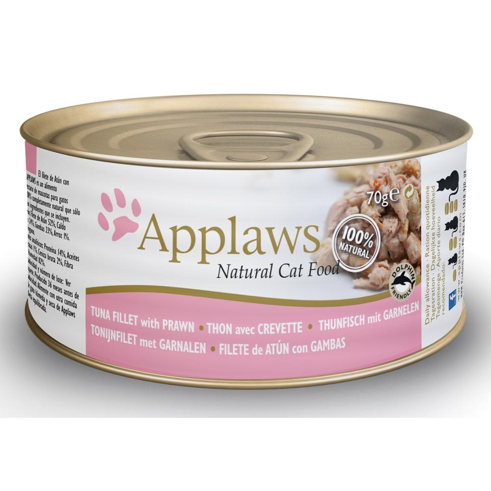 Applaws Cat Adult Thunfischfilets & Garnelen