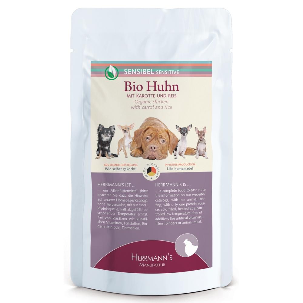 Herrmann's Dog Selection Bio-Huhn mit Karotte & Reis 150g