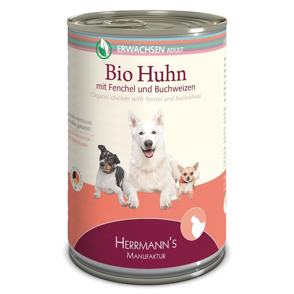 Herrmann's Dog Selection Bio-Huhn mit Fenchel, Zucchini & Buchweizen