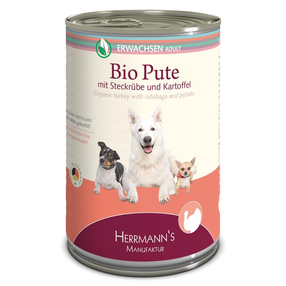 Herrmann's Dog Selection Bio-Pute mit Steckrüben, Kartoffeln & Fenchel