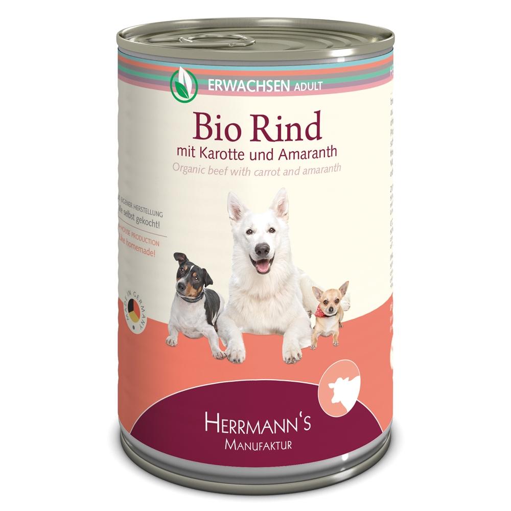 Herrmann's Dog Selection Bio-Rind mit Karotten, Amaranth & Sellerie