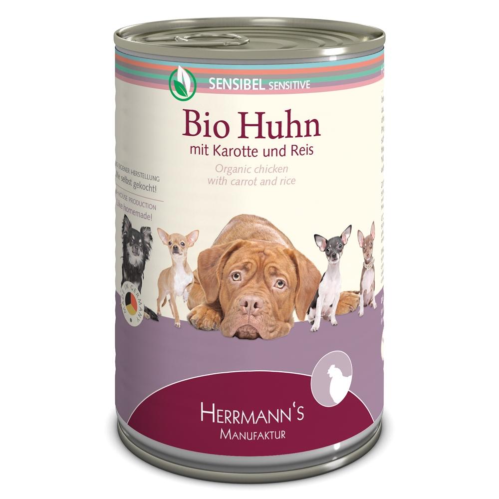 Herrmann's Dog Selection Bio-Huhn mit Karotte & Reis