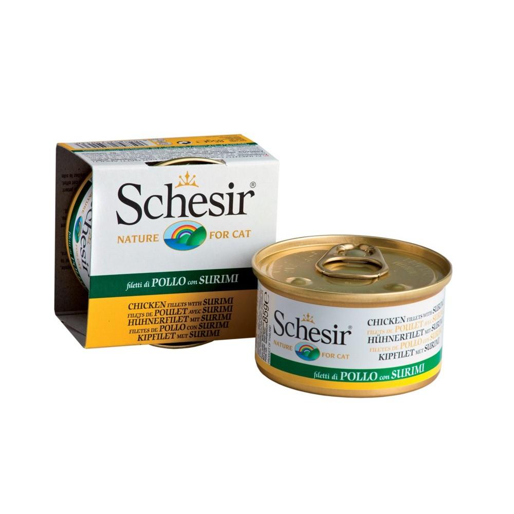 Schesir Cat Gelee Adult Hühnerfilet & Surimi 85g