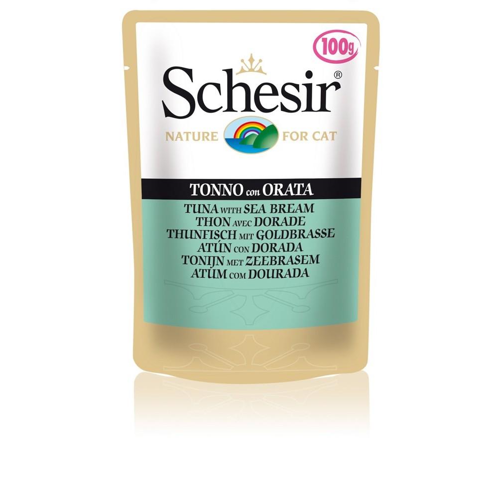 Schesir Cat Gelee Adult Thunfisch & Goldbrasse 100 g