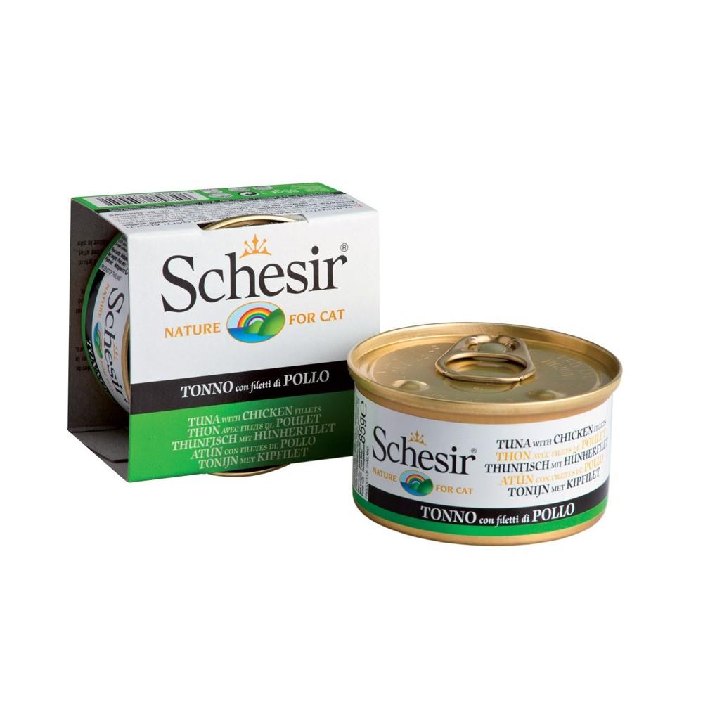 Schesir Cat Gelee Adult Thunfisch & Hühnerfilet 85 g