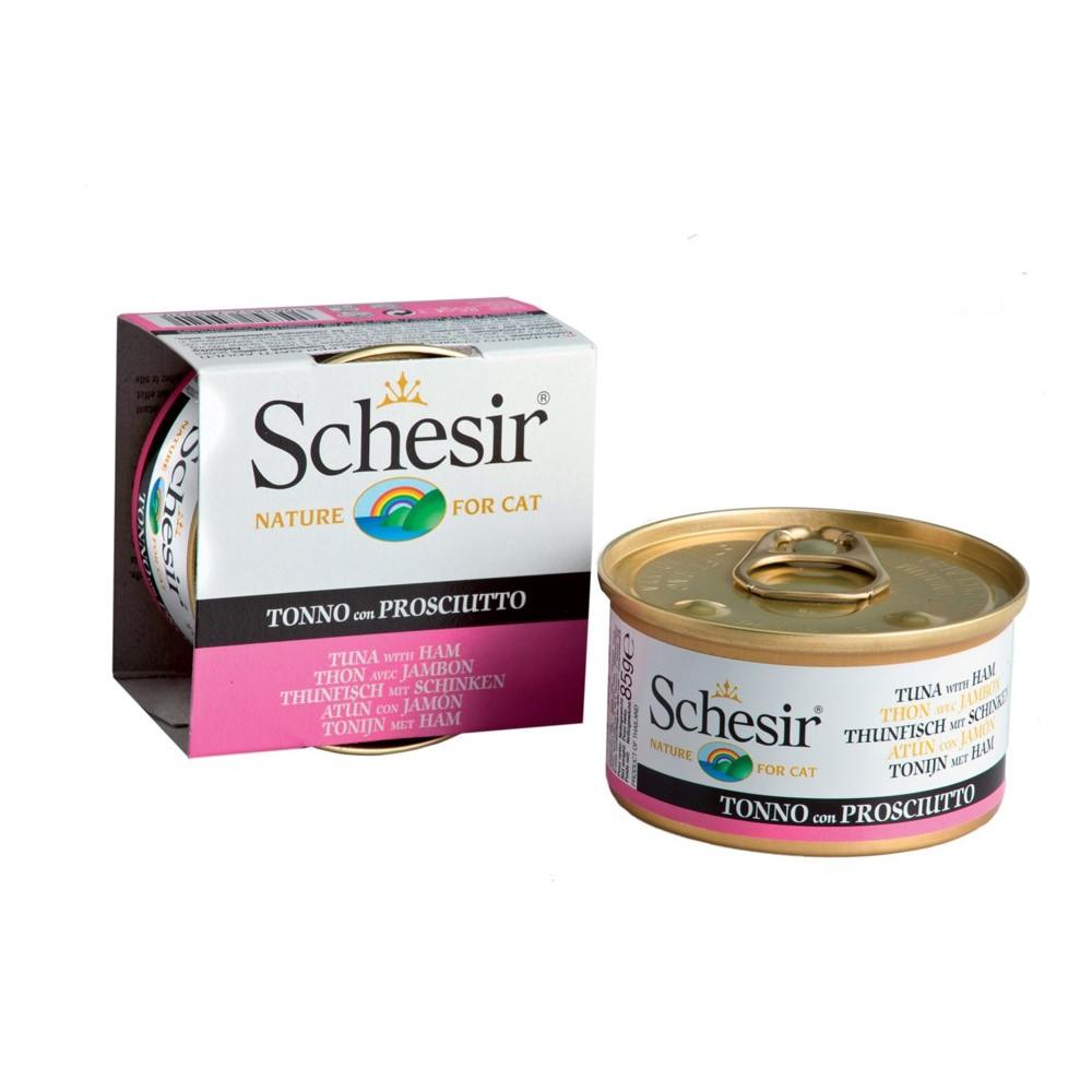 Schesir Cat Gelee Adult Thunfisch & Schinken 85 g