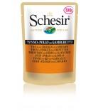 Schesir Cat Gelee Adult Thunfisch, Huhn & Garnelen 100 g