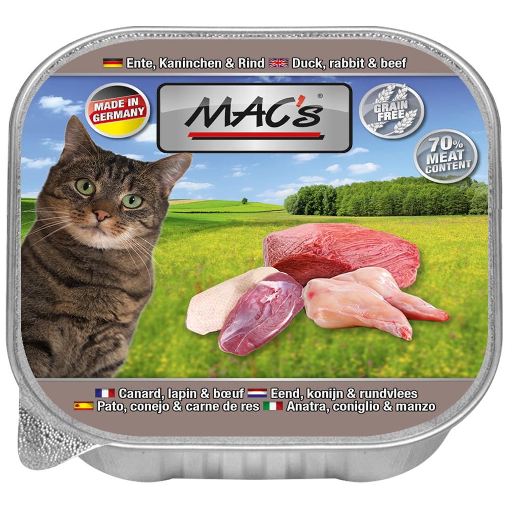 Mac's Cat Ente, Kaninchen & Rind 85g