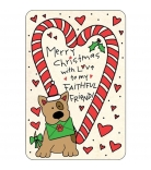 "Pet's Up Edible Card ""Faithful Friend"""