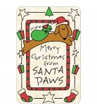 "Pet's Up Edible Card ""Santa Paws"""